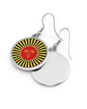 Inca God Of Sun Circle Earrings aos-earring-circle-front-lifestyle-10