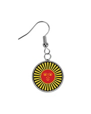 Inca God Of Sun Circle Earrings front
