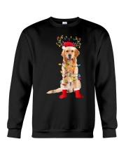 Golden Retriever Santa Christmas Lights T Shirt Crewneck Sweatshirt thumbnail