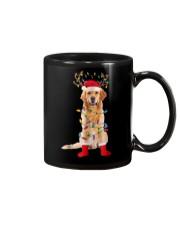 Golden Retriever Santa Christmas Lights T Shirt Mug thumbnail