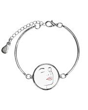 I Really Love My Red Lips Metallic Circle Bracelet thumbnail