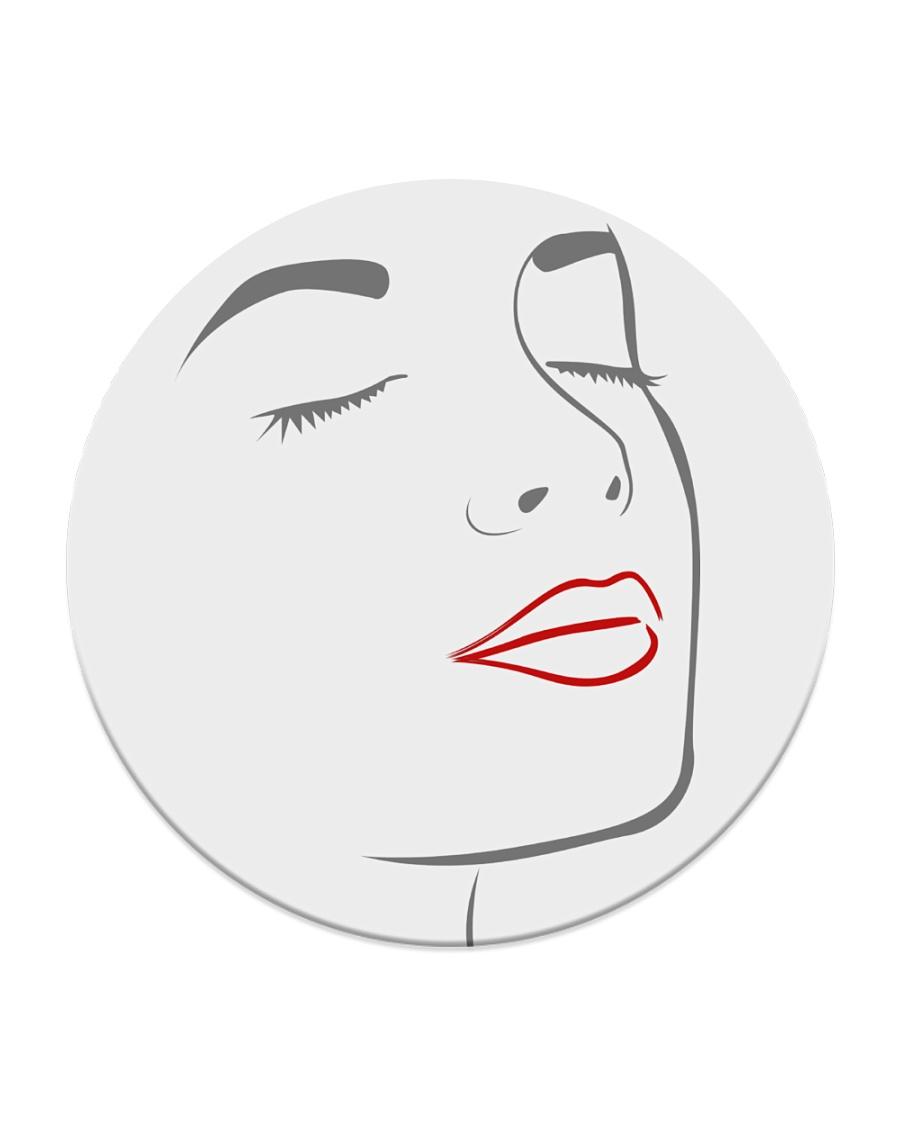 I Really Love My Red Lips Circle Coaster