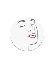 I Really Love My Red Lips Circle Magnet thumbnail