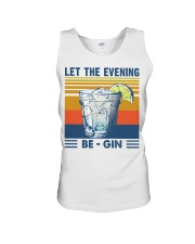 Let the evening Be Gin Martini Cocktail T-Shirt Unisex Tank thumbnail