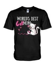 World Best Cat Mom V-Neck T-Shirt thumbnail