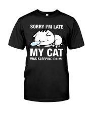 My cat was sleeping on me Classic T-Shirt thumbnail
