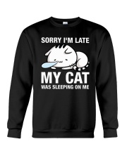 My cat was sleeping on me Crewneck Sweatshirt thumbnail