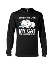 My cat was sleeping on me Long Sleeve Tee thumbnail