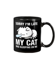 My cat was sleeping on me Mug thumbnail