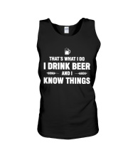 I Drink Beer and I Know Things Unisex Tank thumbnail