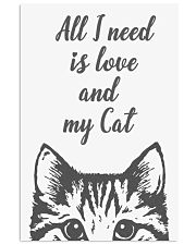 All I need is love and my cat - Classic 16x24 Poster front