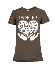 TEE SHIRT DRAFTER Premium Fit Ladies Tee front