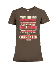 T SHIRT CARPENTER Premium Fit Ladies Tee front