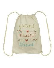 Grateful Thankful Blessed Shirt Thanksgiving Day  Drawstring Bag thumbnail