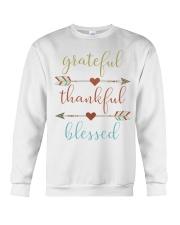 Grateful Thankful Blessed Shirt Thanksgiving Day  Crewneck Sweatshirt thumbnail