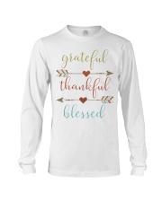 Grateful Thankful Blessed Shirt Thanksgiving Day  Long Sleeve Tee thumbnail