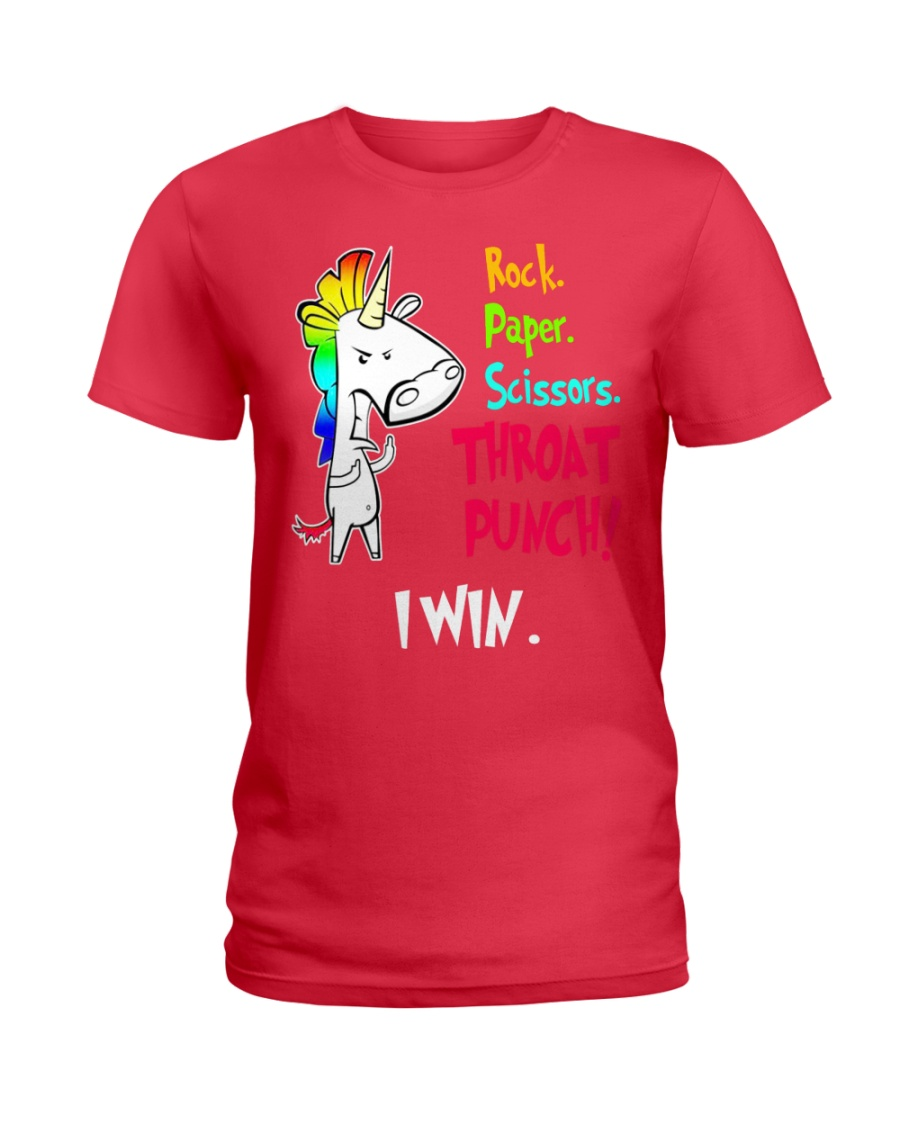 Rock Paper Scissos Ladies T-Shirt