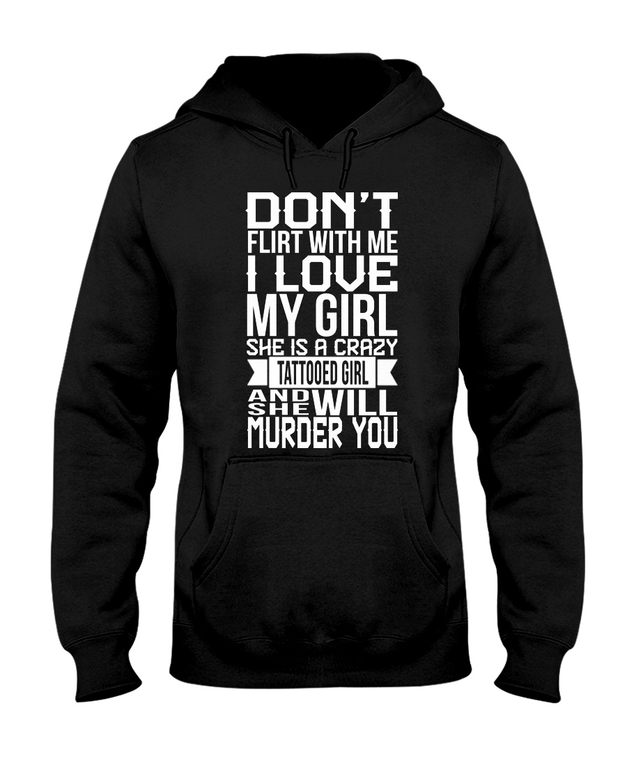 I LOVE CRAZY TATTOOED GIRL Hooded Sweatshirt