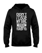 I LOVE CRAZY TATTOOED GIRL Hooded Sweatshirt tile