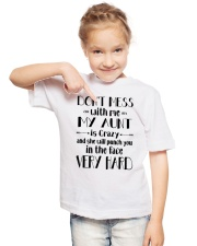MY AUNT IS CRAZY Youth T-Shirt lifestyle-youth-tshirt-front-2