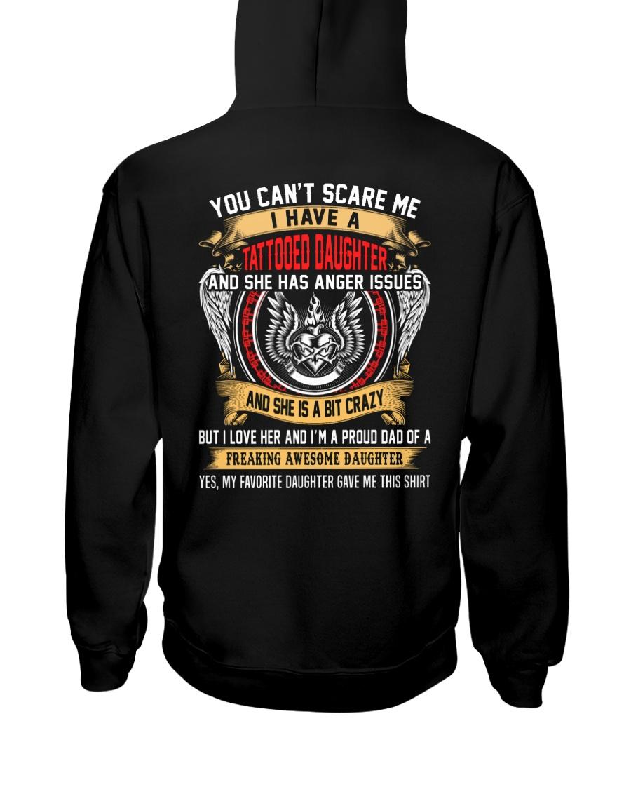 Love Dad - Tattooed Daughter Hooded Sweatshirt