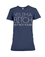 YES I AM Premium Fit Ladies Tee front