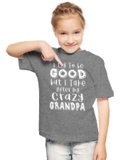 Crazy Grandpa - Try To Be Good  Youth T-Shirt lifestyle-youth-tshirt-front-2