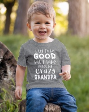 Crazy Grandpa - Try To Be Good  Youth T-Shirt lifestyle-youth-tshirt-front-4