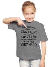 I Have A Crazy Aunt Who Happens To Cuss Alot Youth T-Shirt lifestyle-youth-tshirt-front-2