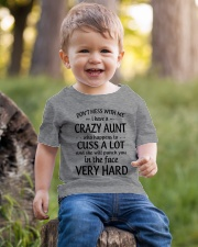I Have A Crazy Aunt Who Happens To Cuss Alot Youth T-Shirt lifestyle-youth-tshirt-front-4