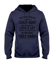 I Have A Crazy Aunt Who Happens To Cuss Alot Hooded Sweatshirt thumbnail