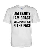 I'M BEAUTY I'M GRACE V-Neck T-Shirt thumbnail