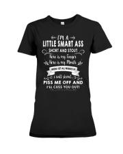 I AM A LITTLE SMART  Premium Fit Ladies Tee thumbnail
