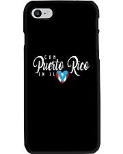 Con Puerto Rico en el corazon  Phone Case thumbnail