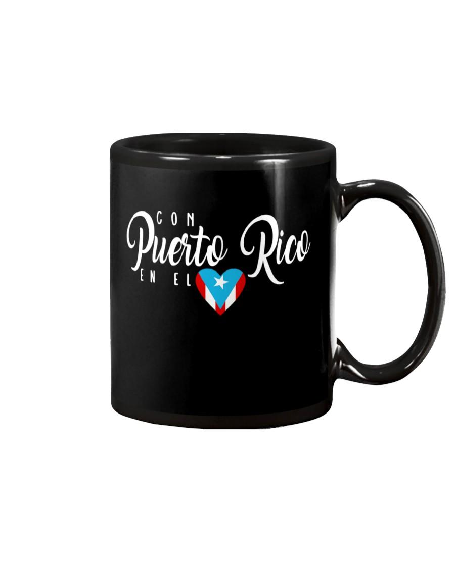 Con Puerto Rico en el corazon  Mug