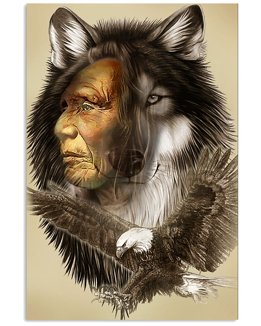 Limited Edition - Native American Wolf 11x17 Poster