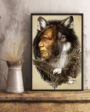 Limited Edition - Native American Wolf 11x17 Poster lifestyle-poster-3