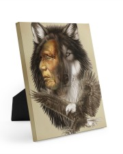 Limited Edition - Native American Wolf 8x10 Easel-Back Gallery Wrapped Canvas thumbnail