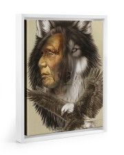Limited Edition - Native American Wolf 11x14 White Floating Framed Canvas Prints thumbnail