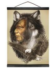 Limited Edition - Native American Wolf 12x16 Black Hanging Canvas thumbnail