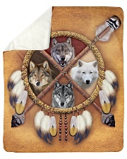 "Limited Edition - 4 Wolf Sherpa Fleece Blanket - 50"" x 60"" thumbnail"