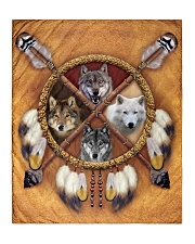 "Limited Edition - 4 Wolf Quilt 50""x60"" - Throw thumbnail"