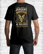 I Was Born In January  Premium Fit Mens Tee lifestyle-mens-crewneck-back-1