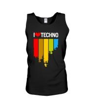 I Love Techno Unisex Tank thumbnail