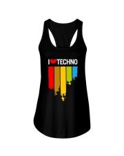 I Love Techno Ladies Flowy Tank thumbnail