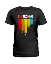 I Love Techno Ladies T-Shirt thumbnail