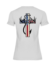 Hunting Faith Flag - back front Premium Fit Ladies Tee back