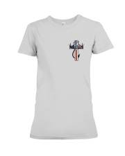 Hunting Faith Flag - back front Premium Fit Ladies Tee front