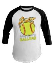 Softball- Busy Raising Ballers Baseball Tee thumbnail