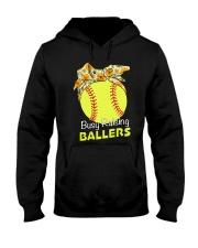 Softball- Busy Raising Ballers Hooded Sweatshirt thumbnail
